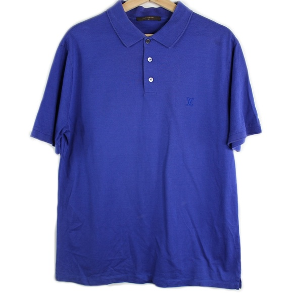 Louis Vuitton Other - Authentic LV Louis Vuitton Polo Shirt Blue Logo XL
